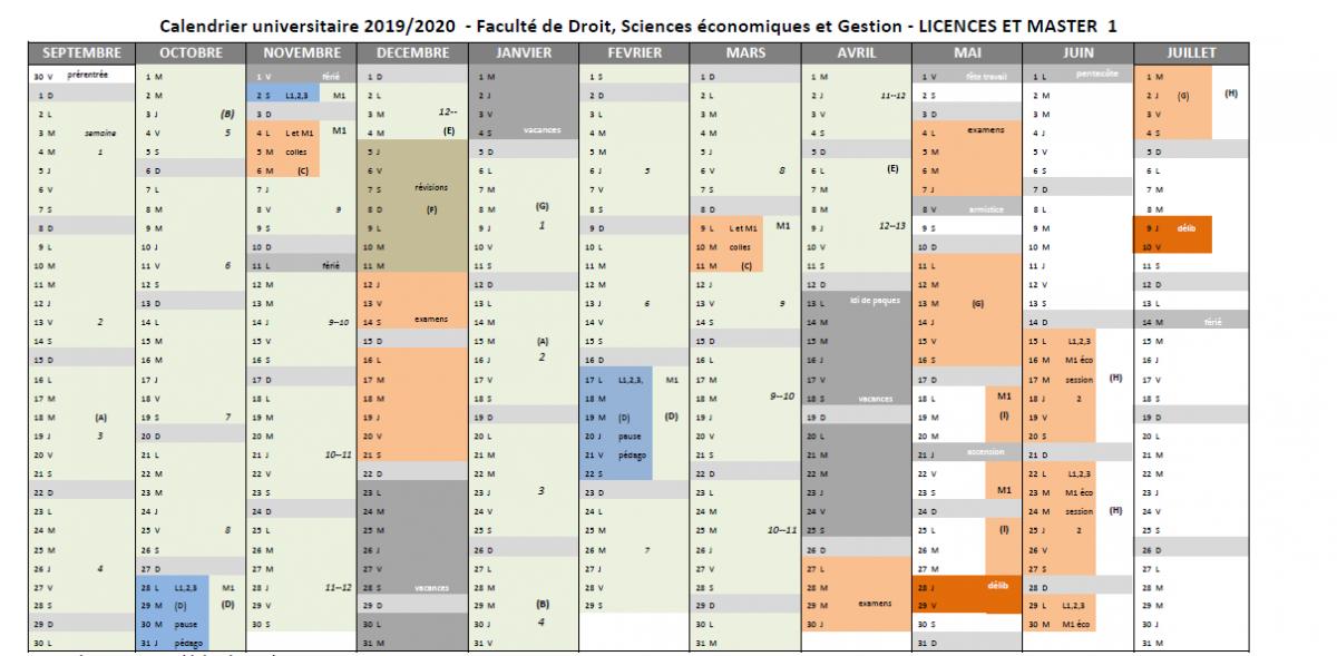 Calendrier Universitaire Lille 1 2019 2020.Fac Droit Fac Droit Univ Lorraine Fr